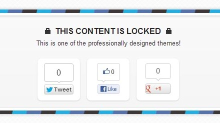 Share to download WordPress plugin to lock your content