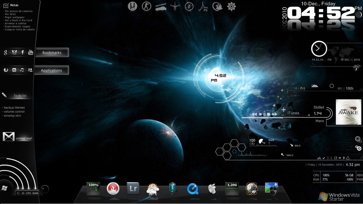 17 best rainmeter themes skins download must have