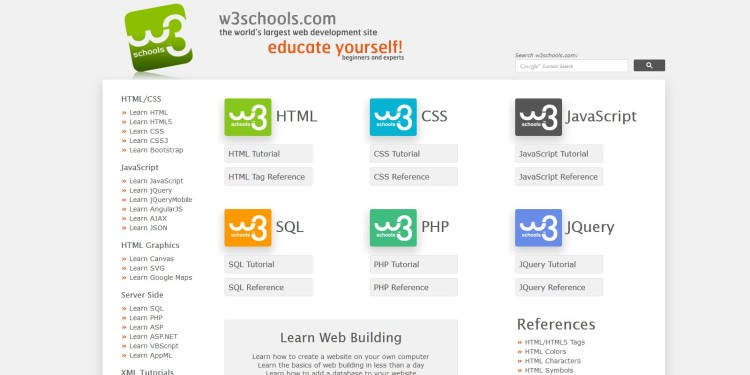 W3 shools learn web development!