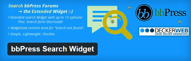 bbPress search widget