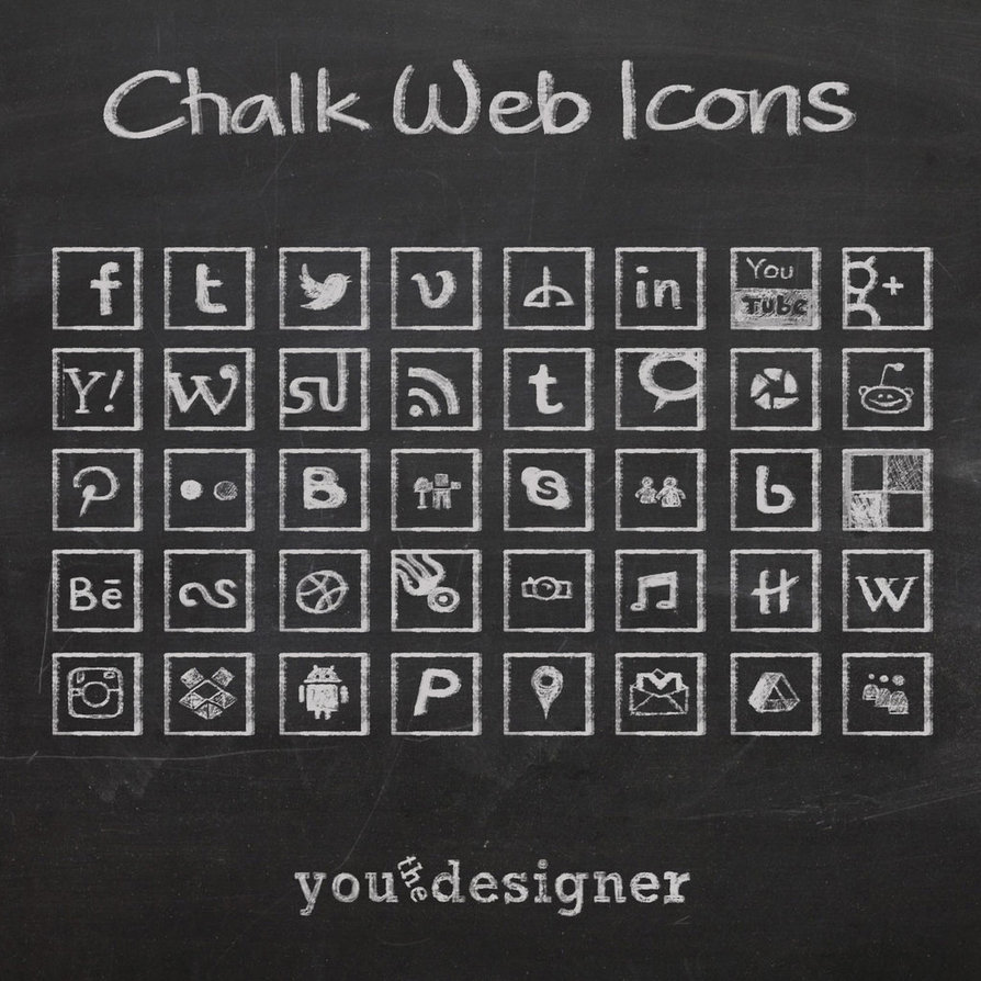 chalk_web_icons_by_youthedesigner-d5y6quf